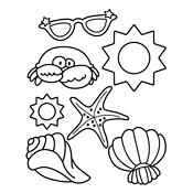 kleurplaat zomer zee en strand seizoen 3399