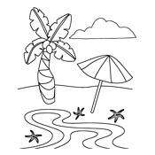 Aan Knop Kleurplaat Kleurplaat Zomer Zee En Strand Seizoen 3405